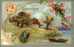 September Birthday with Morning Glory & Chrysolite