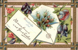 Greetings with Flowers & Note