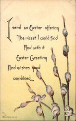 Easter Greetings with Pussy Willows