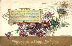 Wishing you a Happy Birthday with Sapphire & Asters