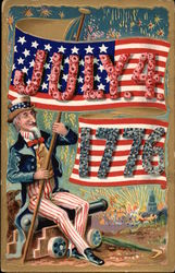 Uncle Sam Holding Flag