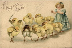 All Happiness for Easter with Child & Chicks