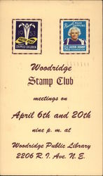 Two Commemorative Stamps and Meeting Information