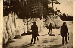 Ice Scene, Shore of Lake Champlain