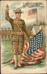 As a young man he volunteered... with Soldiers & Flags