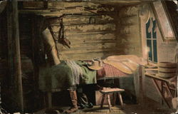 Log Cabin room with Cowboy Gear & Candle
