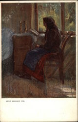Old Woman Reading by Window