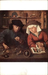The Banker and His Wife by Metsys