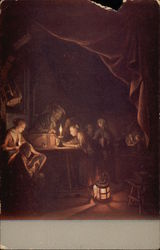 The Evening School, Painting by Gerard Dou