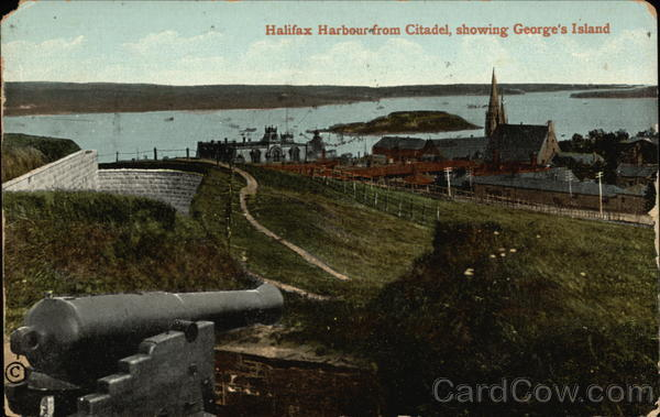 Halifax Harbour from Citadel, Showing George's Island Canada