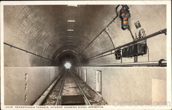 Pennsylvania Tunnels Interior showing Signal Apparatus