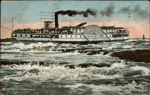Duchess of York on The Lachine Rapids Montreal Canada