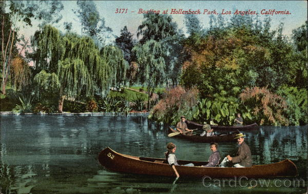 Boating at Hollenbeck Park Los Angeles California