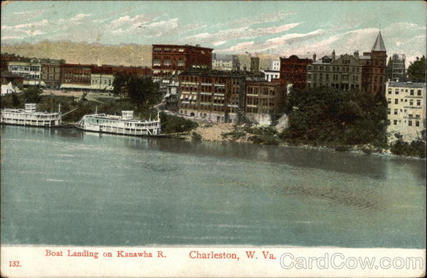 Boat Landing on Kanawha River Charleston West Virginia