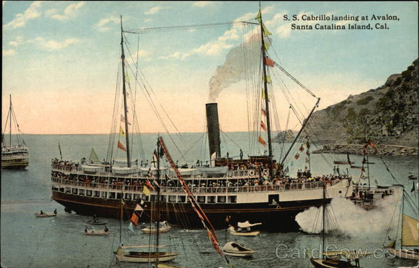 S.S. Cabrillo Landing at Avalon, Santa Catalina Island California