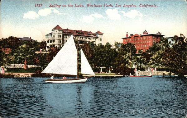 Westlake Park - Sailing on the Lake Los Angeles California