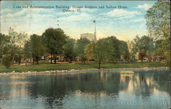 Lake and Administration Building, Illinois Soldiers and Sailors Home Quincy