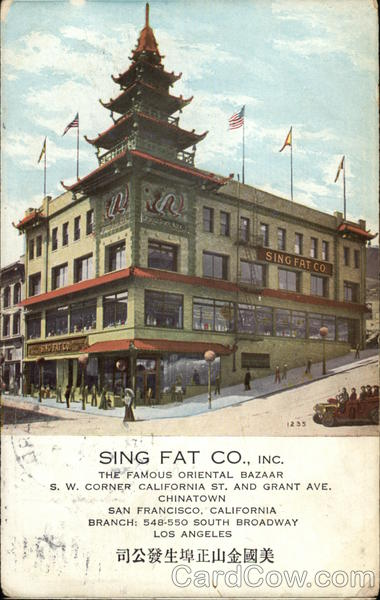 Sing Fat Co., Inc San Francisco California