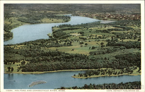 View of Town and Connecticut River Holyoke Massachusetts