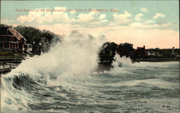 Surf Storm on the Boulevard Swampscott Massachusetts