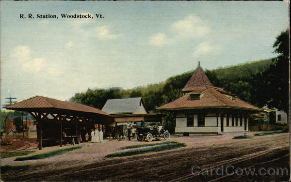 R. R. Station Woodstock Vermont
