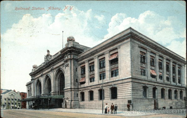 Railroad Station Building Albany New York