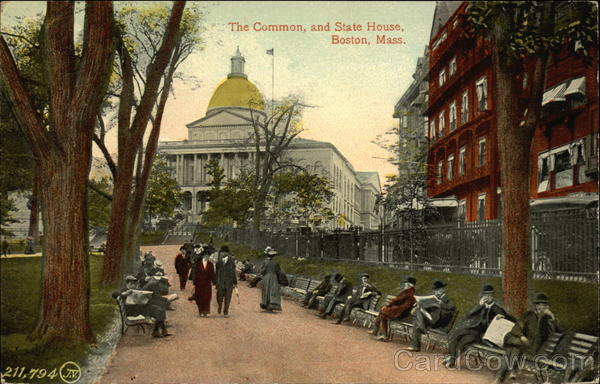 The Common and State House Boston Massachusetts