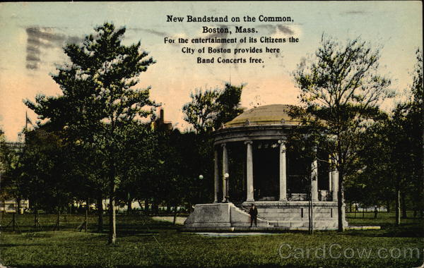 New Bandstand on the Common Boston Massachusetts