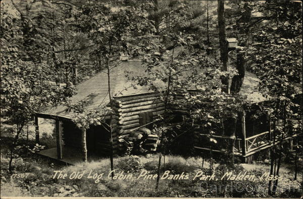 The Old Log Cabin Pine Banks Park Malden Ma