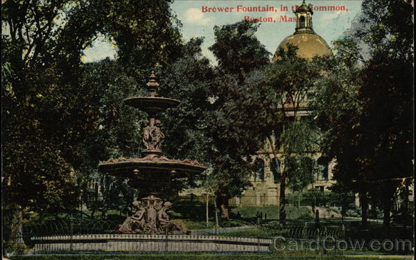 Brewer Fountain in the Common Boston Massachusetts