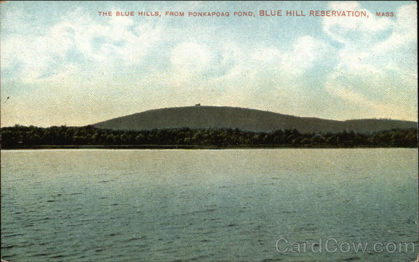 The Blue Hills, From Ponkapong Pond Canton Massachusetts