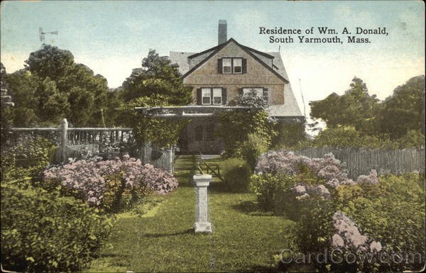 Residence of William A. Donald South Yarmouth Massachusetts