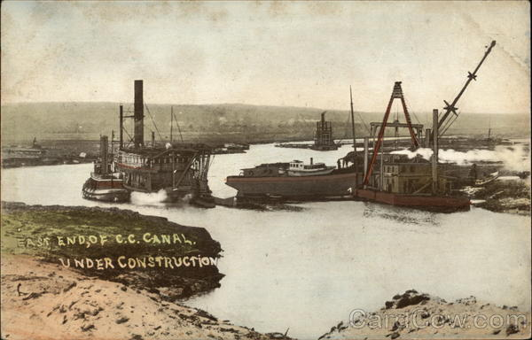 East End of C.C. Canal Under Construction Cape Cod Massachusetts
