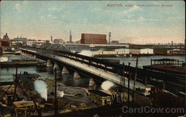 Charlestown Bridge Boston Massachusetts
