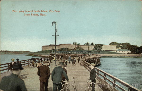 Pier, Going Toward Castle Island in South Boston Massachusetts