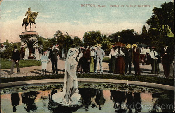 Scene in Public Garden Boston Massachusetts