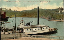 The Air Line Ferry, Which Crosses to Tivoli, NY