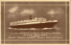 Sister Ships Algonquin Cherokee Mohawk and Seminole Clyde-Mallory Lines