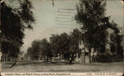 Lincoln's Home and Eighth Street, Looking North