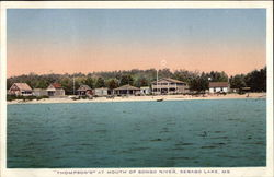 """Thompson's"" at Mouth of Songo River Postcard"