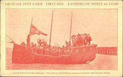 Official Post Card, First Day, Landing of Ponce de Leon