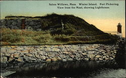 Winter Island, Fort Pickering, View from the Moat, Showing Lighthouse