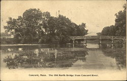 The Old North Bridge from Concord River