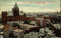 Bird's-eye View from Anglim Building showing City Hall