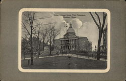 State House From The Common Postcard