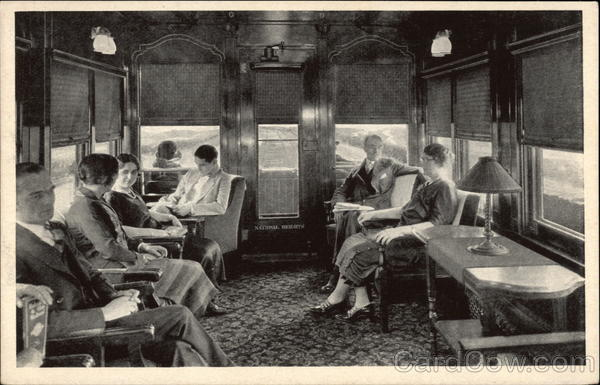 Observation Car - National Limited Trains, Railroad