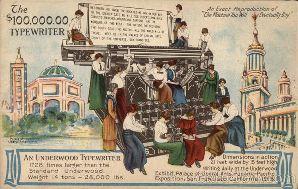 Underwood Typewriter Advertising