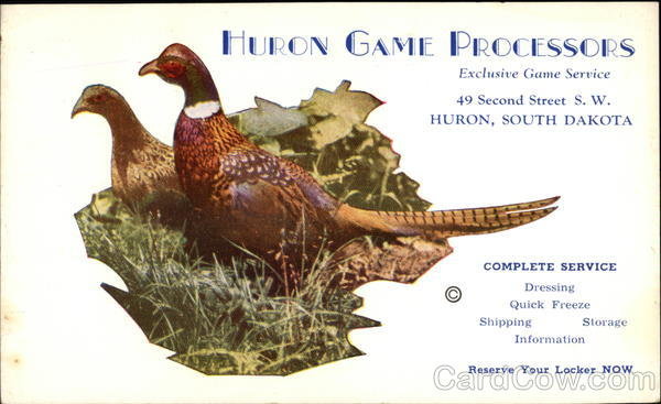 Huron Game Processors, Exclusive Service Hunting
