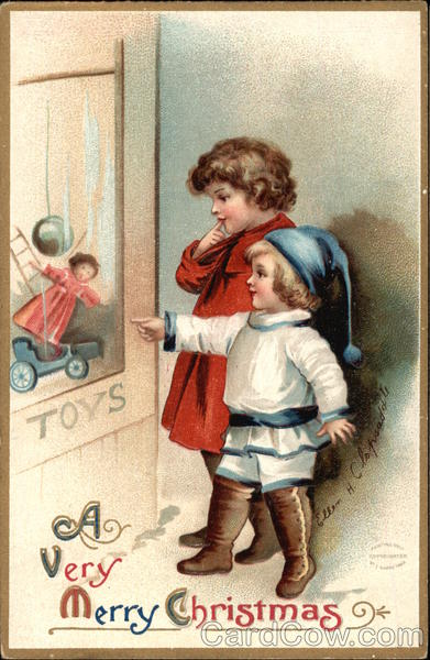 A Very Merry Christmas with Children Ellen Clapsaddle