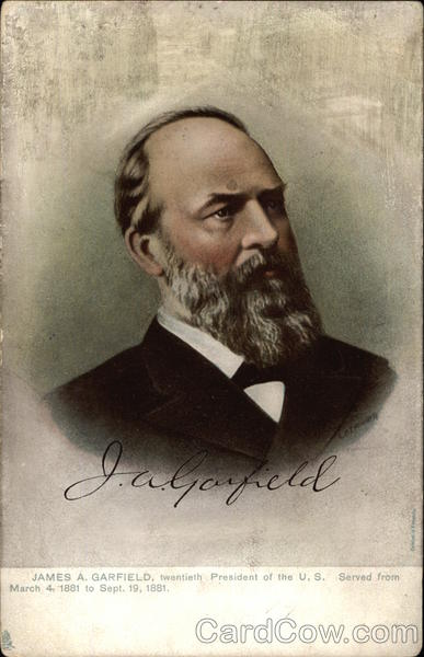 James A. Garfield, twentieth President of the U. S